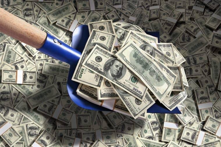 Лопата для денег